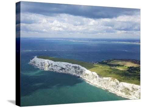 Aerial View of the Needles, Isle of Wight, England, United Kingdom, Europe-Peter Barritt-Stretched Canvas Print