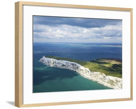 Aerial View of the Needles, Isle of Wight, England, United Kingdom, Europe-Peter Barritt-Framed Art Print