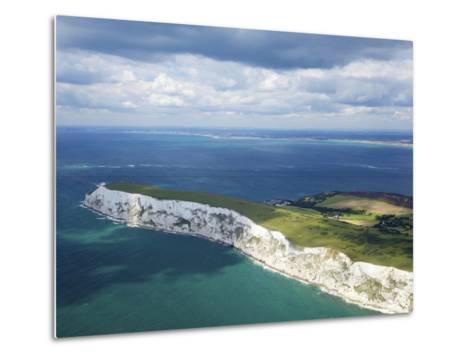 Aerial View of the Needles, Isle of Wight, England, United Kingdom, Europe-Peter Barritt-Metal Print