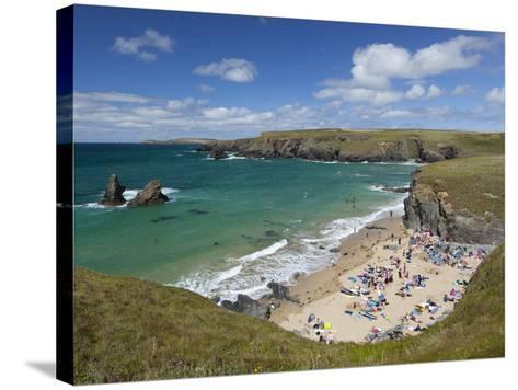 North Cornwall Coast Beach, Porthcothan, Near Newquay, Cornwall, England-Stuart Black-Stretched Canvas Print