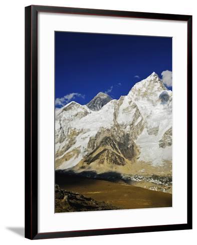 Mount Everest and Nuptse from Kala Patthar, Sagarmatha Natl Park, UNESCO World Heritage Site, Nepal-Jochen Schlenker-Framed Art Print