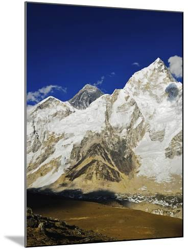 Mount Everest and Nuptse from Kala Patthar, Sagarmatha Natl Park, UNESCO World Heritage Site, Nepal-Jochen Schlenker-Mounted Photographic Print