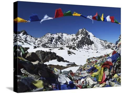 Lauribina Pass, Langtang National Park, Bagmati, Central Region (Madhyamanchal), Nepal, Himalayas-Jochen Schlenker-Stretched Canvas Print