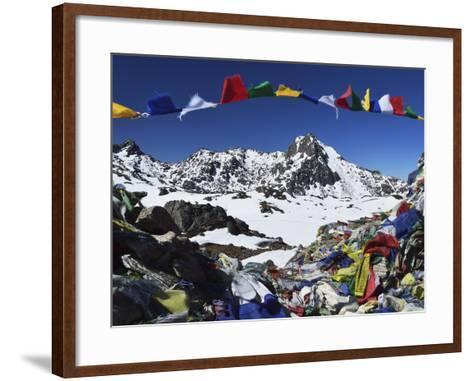 Lauribina Pass, Langtang National Park, Bagmati, Central Region (Madhyamanchal), Nepal, Himalayas-Jochen Schlenker-Framed Art Print