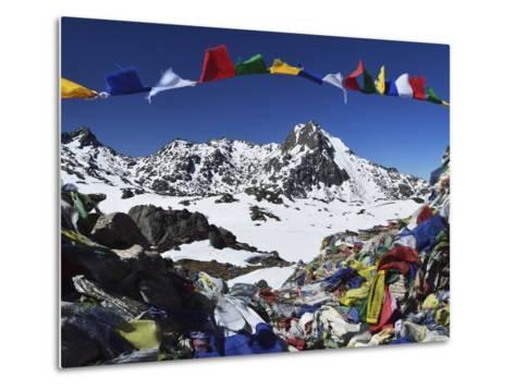 Lauribina Pass, Langtang National Park, Bagmati, Central Region (Madhyamanchal), Nepal, Himalayas-Jochen Schlenker-Metal Print