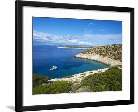 Natural Swimming Pool, Donoussa, Cyclades, Aegean, Greek Islands, Greece, Europe-Tuul-Framed Art Print