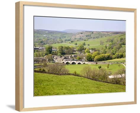 Village of Burnsall in Wharfedale, Yorkshire Dales, Yorkshire, England, United Kingdom, Europe-Mark Sunderland-Framed Art Print