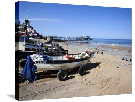 Fishing Boats on the Beach at Cromer, Norfolk, England, United Kingdom, Europe-Mark Sunderland-Stretched Canvas Print