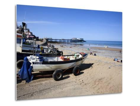 Fishing Boats on the Beach at Cromer, Norfolk, England, United Kingdom, Europe-Mark Sunderland-Metal Print