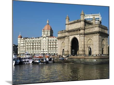 Waterfront with Taj Mahal Palace and Tower Hotel and Gateway of India, Mumbai (Bombay), India-Stuart Black-Mounted Photographic Print