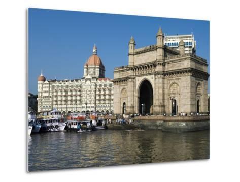 Waterfront with Taj Mahal Palace and Tower Hotel and Gateway of India, Mumbai (Bombay), India-Stuart Black-Metal Print