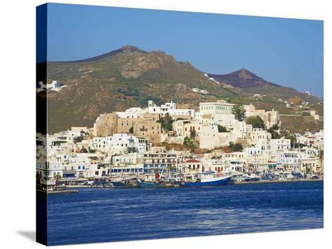 Hora (Chora) Main Town and Kastro, Naxos, Cyclades, Aegean, Greek Islands, Greece, Europe-Tuul-Stretched Canvas Print
