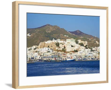 Hora (Chora) Main Town and Kastro, Naxos, Cyclades, Aegean, Greek Islands, Greece, Europe-Tuul-Framed Art Print