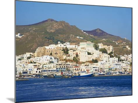 Hora (Chora) Main Town and Kastro, Naxos, Cyclades, Aegean, Greek Islands, Greece, Europe-Tuul-Mounted Photographic Print