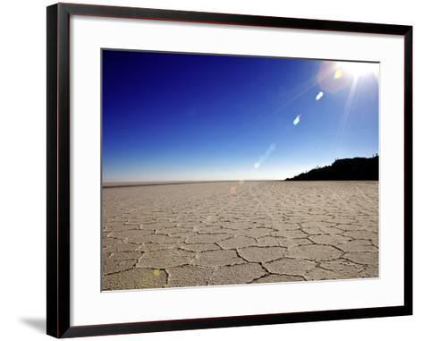 Isla de Los Pescadores and Salt Flats, Salar de Uyuni, Southwest Highlands, Bolivia, South America-Simon Montgomery-Framed Art Print