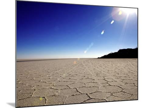 Isla de Los Pescadores and Salt Flats, Salar de Uyuni, Southwest Highlands, Bolivia, South America-Simon Montgomery-Mounted Photographic Print