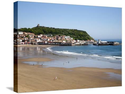 South Sands from the Cliff Top, Scarborough, North Yorkshire, Yorkshire, England, UK, Europe-Mark Sunderland-Stretched Canvas Print