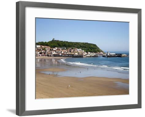 South Sands from the Cliff Top, Scarborough, North Yorkshire, Yorkshire, England, UK, Europe-Mark Sunderland-Framed Art Print