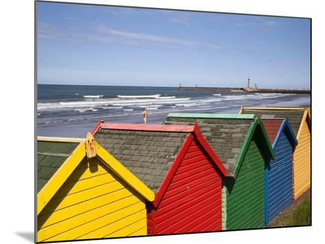 Beach Huts at Whitby Sands, Whitby, North Yorkshire, Yorkshire, England, United Kingdom, Europe-Mark Sunderland-Mounted Photographic Print