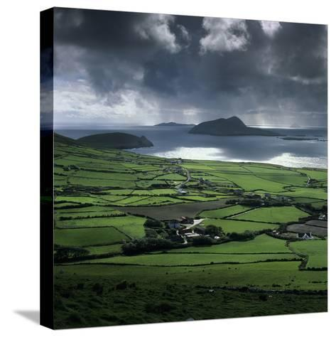 Blasket Sound to Blasket Islands and Slea Head, Dingle Peninsula, Munster, Republic of Ireland-Stuart Black-Stretched Canvas Print