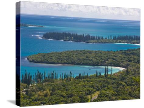 View over the Ile Des Pins, New Caledonia, Melanesia, South Pacific, Pacific-Michael Runkel-Stretched Canvas Print
