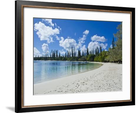 White Sand Beach, Bay de Kanumera, Ile Des Pins, New Caledonia, Melanesia, South Pacific, Pacific-Michael Runkel-Framed Art Print