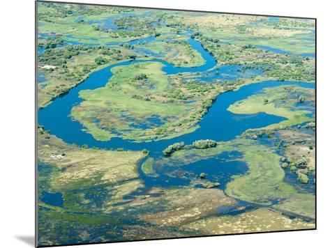 Aerial View of Floodplains, Water Channels, and Islands, Zambezi and Chobe Rivers, Namibia-Kim Walker-Mounted Photographic Print