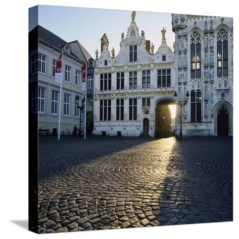Burg Square and Town Hall, Bruges, UNESCO World Heritage Site, West Vlaanderen (Flanders), Belgium-Stuart Black-Stretched Canvas Print