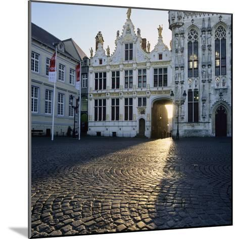 Burg Square and Town Hall, Bruges, UNESCO World Heritage Site, West Vlaanderen (Flanders), Belgium-Stuart Black-Mounted Photographic Print