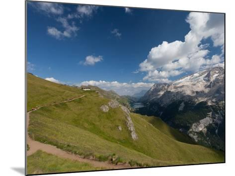 Hiking on High Route 2 in Dolomites, Bolzano Province, Trentino-Alto Adige/South Tyrol, Italy-Carlo Morucchio-Mounted Photographic Print