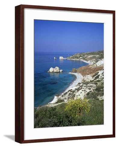 Aphrodite's Rock, Paphos, UNESCO World Heritage Site, South Cyprus, Cyprus, Mediterranean, Europe-Stuart Black-Framed Art Print