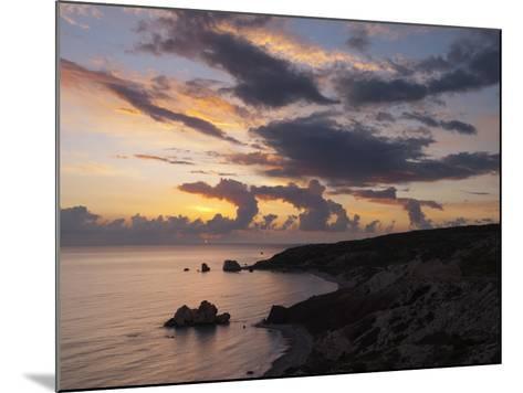 Aphrodite's Rock at Sunset, Paphos, UNESCO World Heritage Site, South Cyprus, Cyprus, Mediterranean-Stuart Black-Mounted Photographic Print