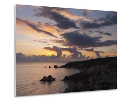 Aphrodite's Rock at Sunset, Paphos, UNESCO World Heritage Site, South Cyprus, Cyprus, Mediterranean-Stuart Black-Metal Print