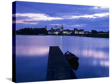 Dusk over the Old Town and Lake Inferiore, Mantua, Lombardy, Italy, Europe-Stuart Black-Stretched Canvas Print