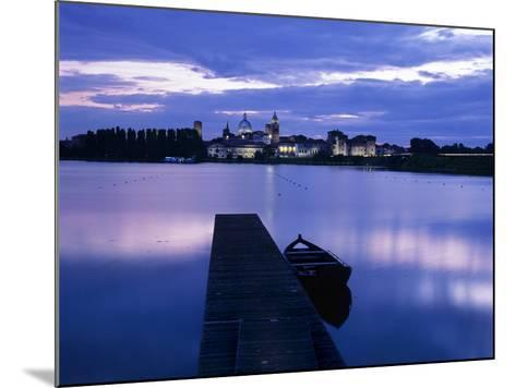 Dusk over the Old Town and Lake Inferiore, Mantua, Lombardy, Italy, Europe-Stuart Black-Mounted Photographic Print