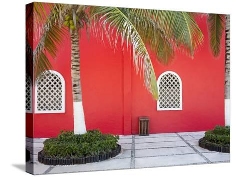 Architectural Detail in Costa Maya Port, Quintana Roo, Mexico, North America-Richard Cummins-Stretched Canvas Print
