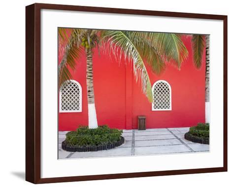 Architectural Detail in Costa Maya Port, Quintana Roo, Mexico, North America-Richard Cummins-Framed Art Print