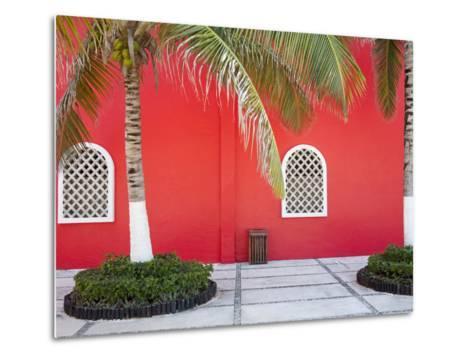 Architectural Detail in Costa Maya Port, Quintana Roo, Mexico, North America-Richard Cummins-Metal Print