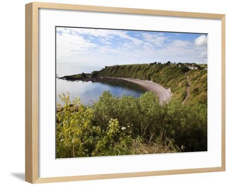 The Bay from the Clifftop at Catterline, Aberdeenshire, Scotland, United Kingdom, Europe-Mark Sunderland-Framed Art Print