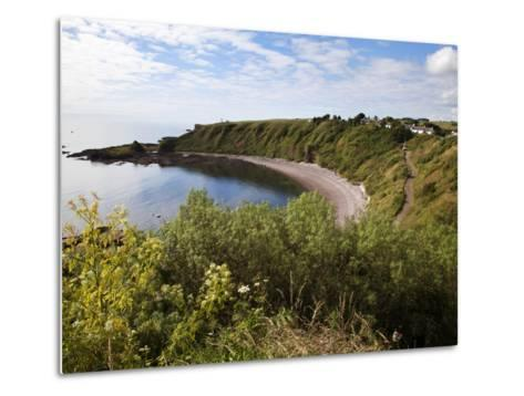 The Bay from the Clifftop at Catterline, Aberdeenshire, Scotland, United Kingdom, Europe-Mark Sunderland-Metal Print