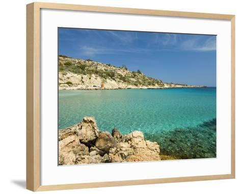 Konnos Beach, Protaras, Cyprus, Mediterranean, Europe-Stuart Black-Framed Art Print