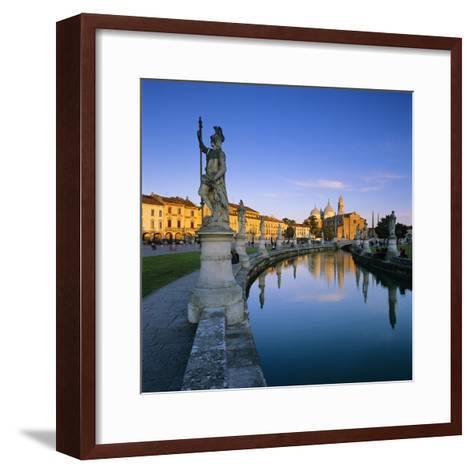 Prato della Valle and Santa Giustina, Padua, Veneto, Italy, Europe-Stuart Black-Framed Art Print