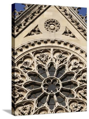 Rose Window on South Facade, Notre Dame Cathedral, Paris, France, Europe-Godong-Stretched Canvas Print