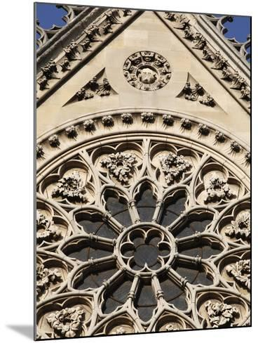 Rose Window on South Facade, Notre Dame Cathedral, Paris, France, Europe-Godong-Mounted Photographic Print