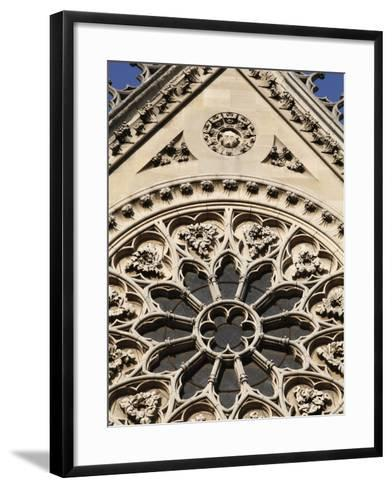 Rose Window on South Facade, Notre Dame Cathedral, Paris, France, Europe-Godong-Framed Art Print