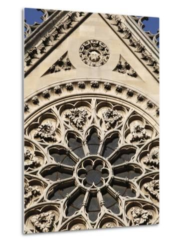 Rose Window on South Facade, Notre Dame Cathedral, Paris, France, Europe-Godong-Metal Print