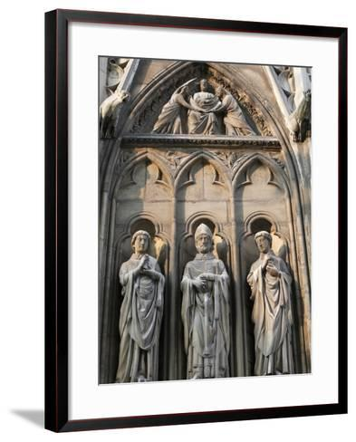Apostle Sculptures, South Facade, Notre Dame Cathedral, Paris, France, Europe-Godong-Framed Art Print