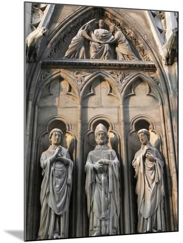 Apostle Sculptures, South Facade, Notre Dame Cathedral, Paris, France, Europe-Godong-Mounted Photographic Print
