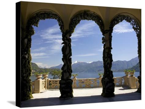 Loggia and Gardens of Villa del Balbianello on Punta di Lavedo, Lenno, Lake Como, Italy-Peter Barritt-Stretched Canvas Print