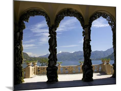 Loggia and Gardens of Villa del Balbianello on Punta di Lavedo, Lenno, Lake Como, Italy-Peter Barritt-Mounted Photographic Print